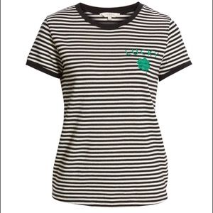 "Lucky Brand Striped ""Lucky"" St Paddy's Day T Shirt"